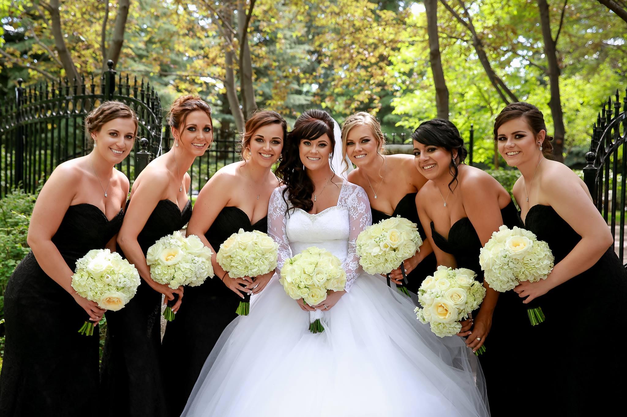 Ally's bridal party-makeup Monika ;hair Jamie