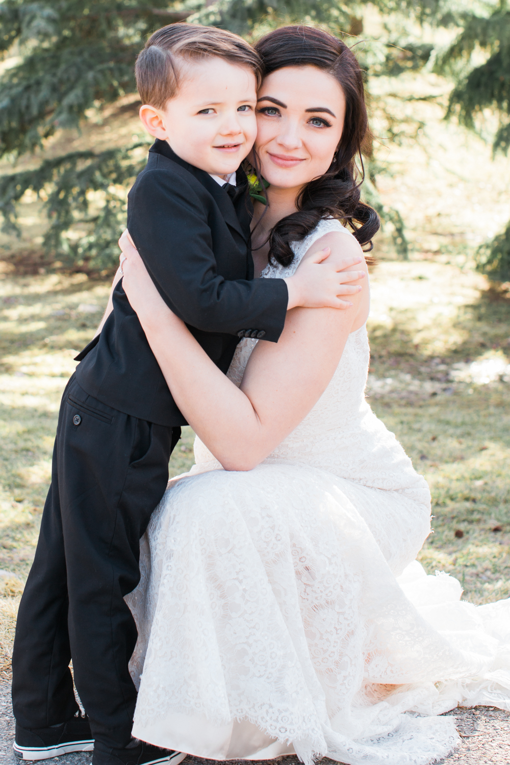 Beautiful Bride Candace  and her son