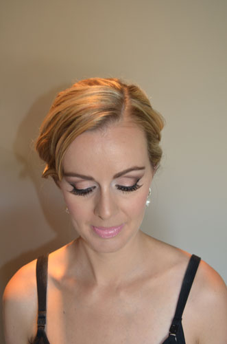 After (bridal makeup)