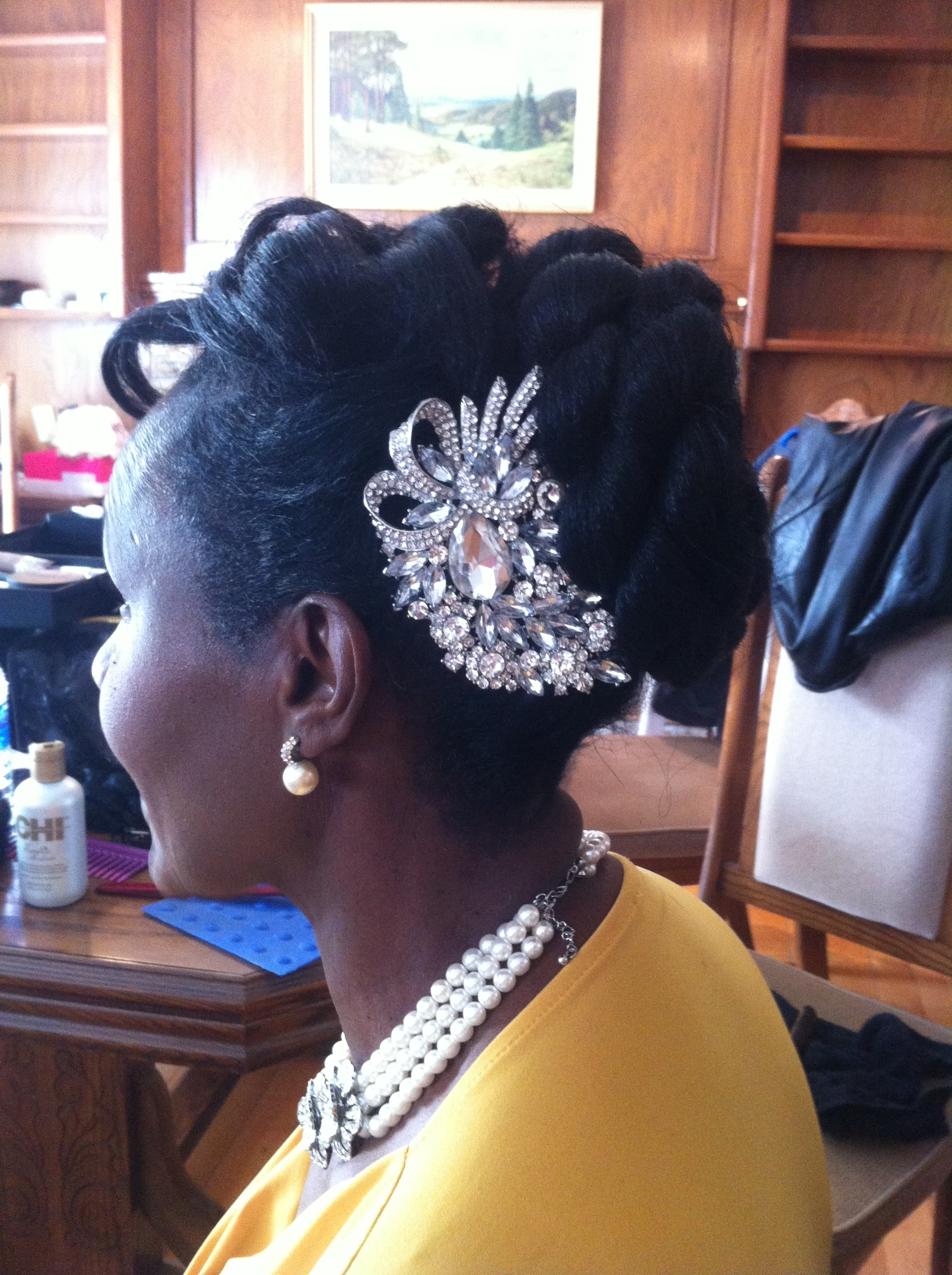 Mother of the Bride up-do-by Jamie