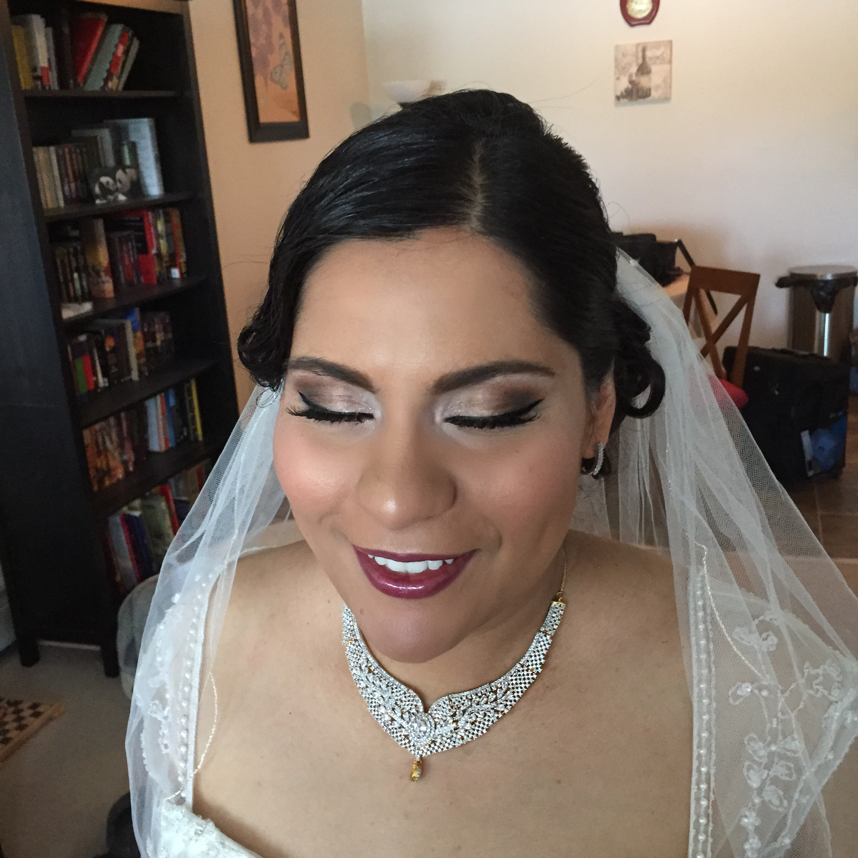 after (bridal makeup and hair)