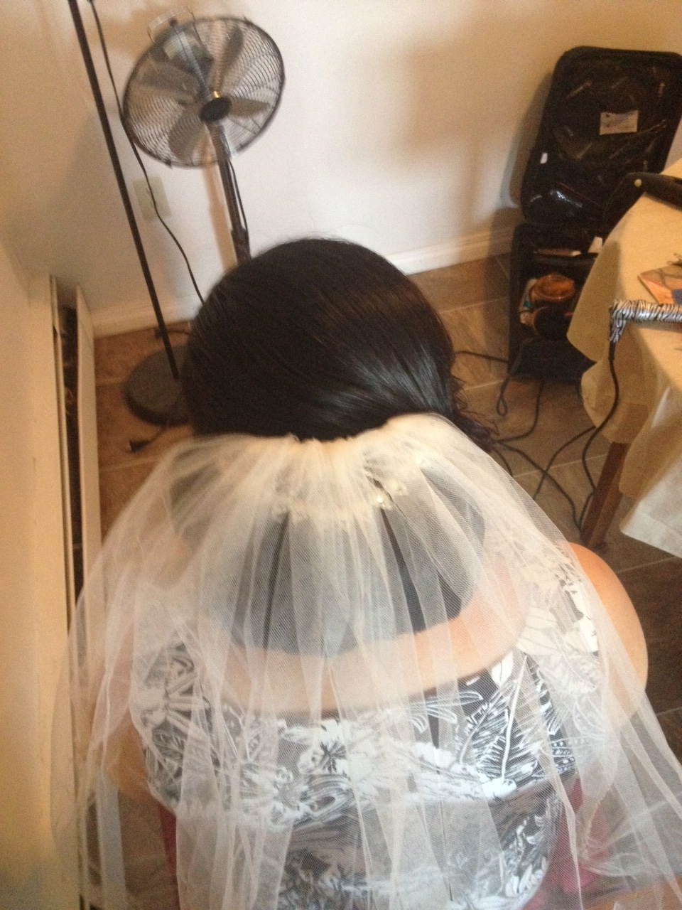 bridal up do by Jamie