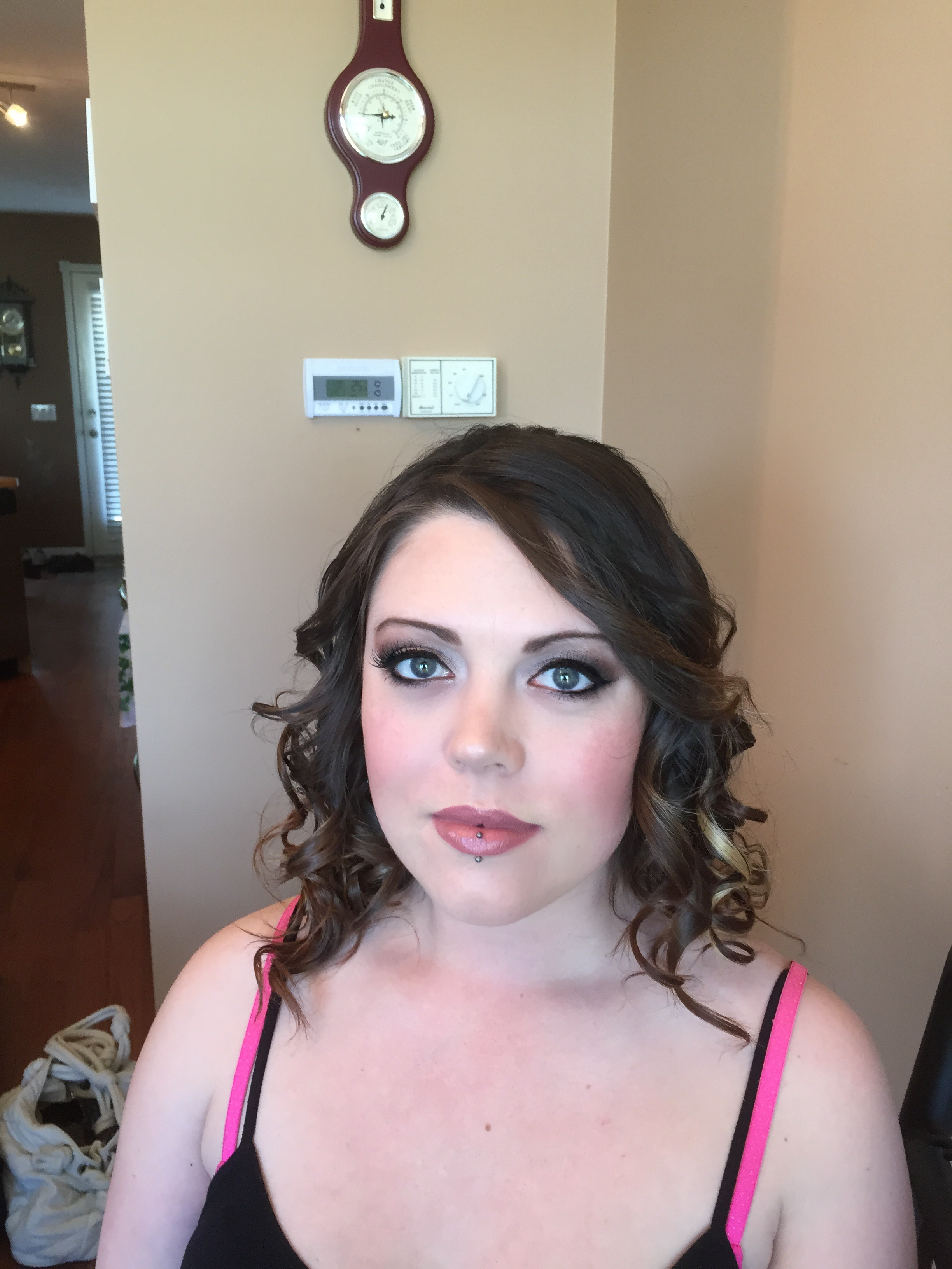 after (special occasion makeup and hair)