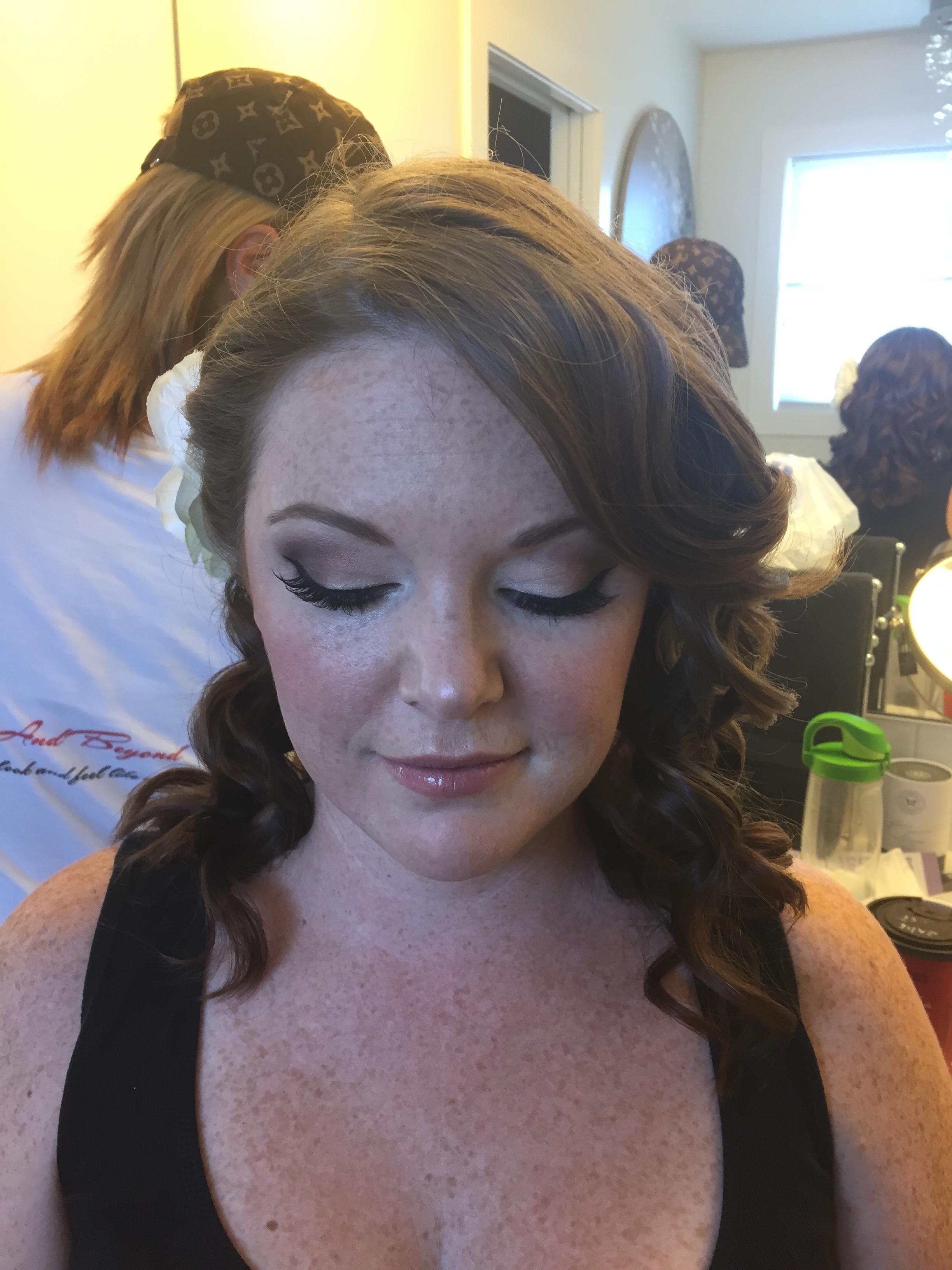 bride after-makeup Monika hair by Jamie