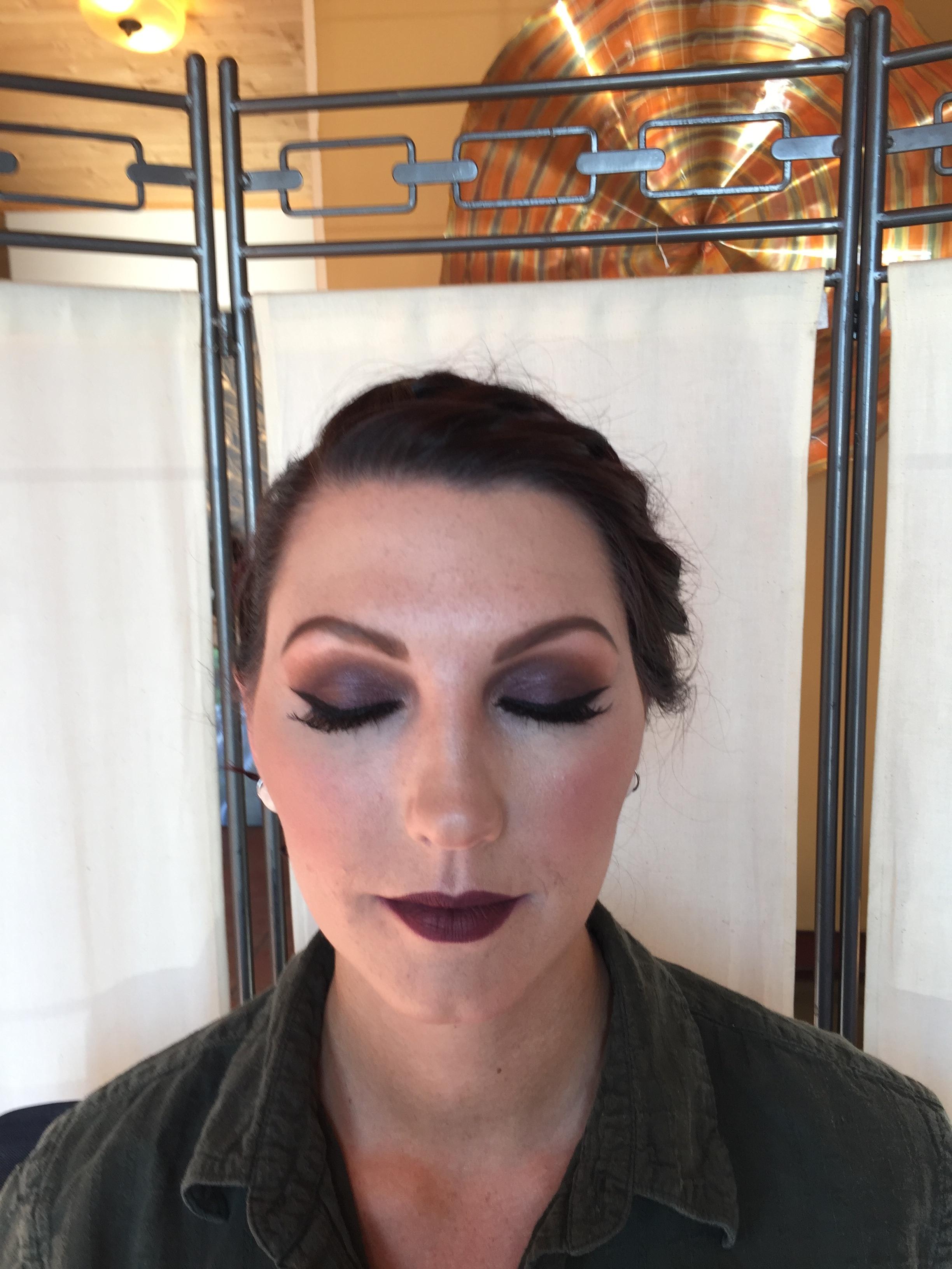 bride after-hair by Jamie makeup by Monika