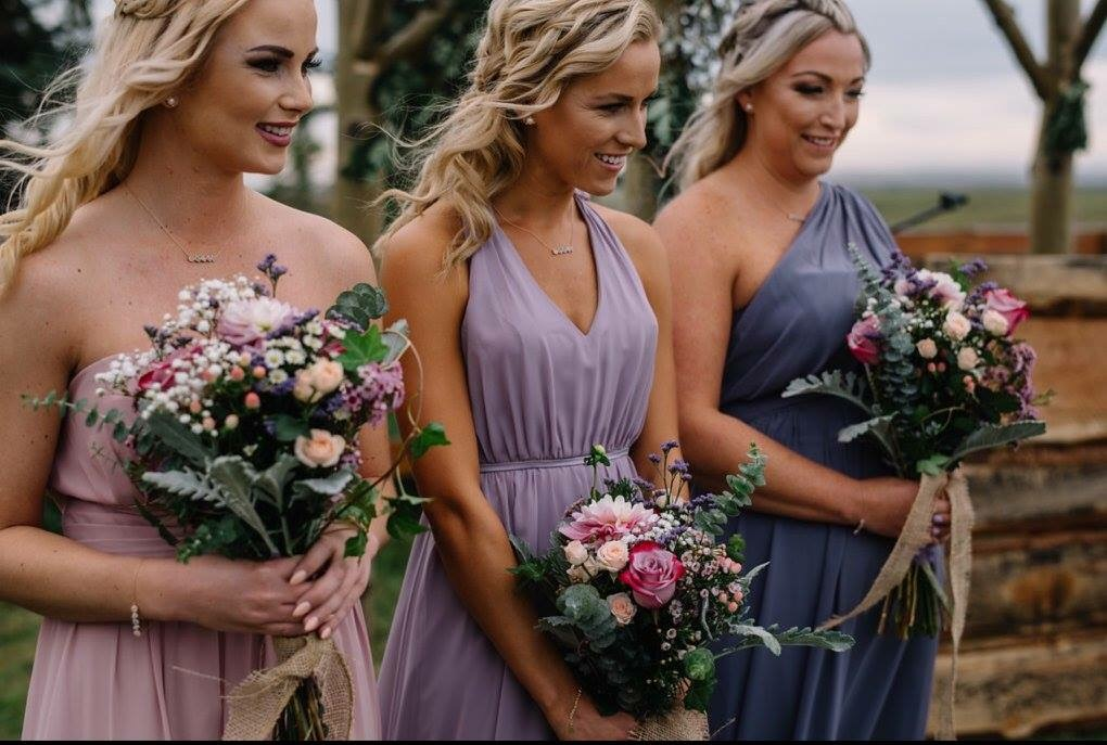 Beautiful Bridesmaids-makeup by Monika ;hair by Kara
