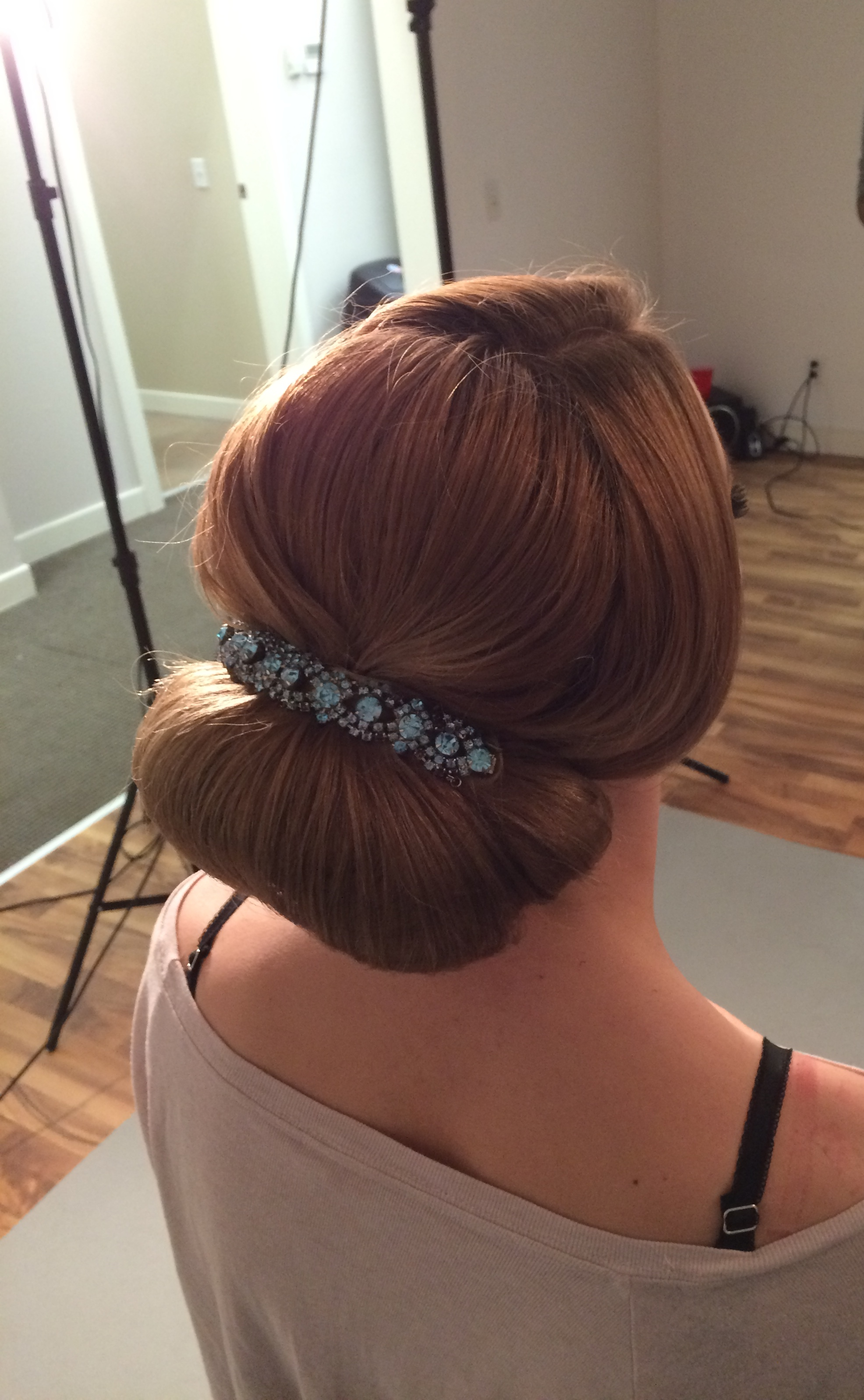 bridal up-do by Jamie