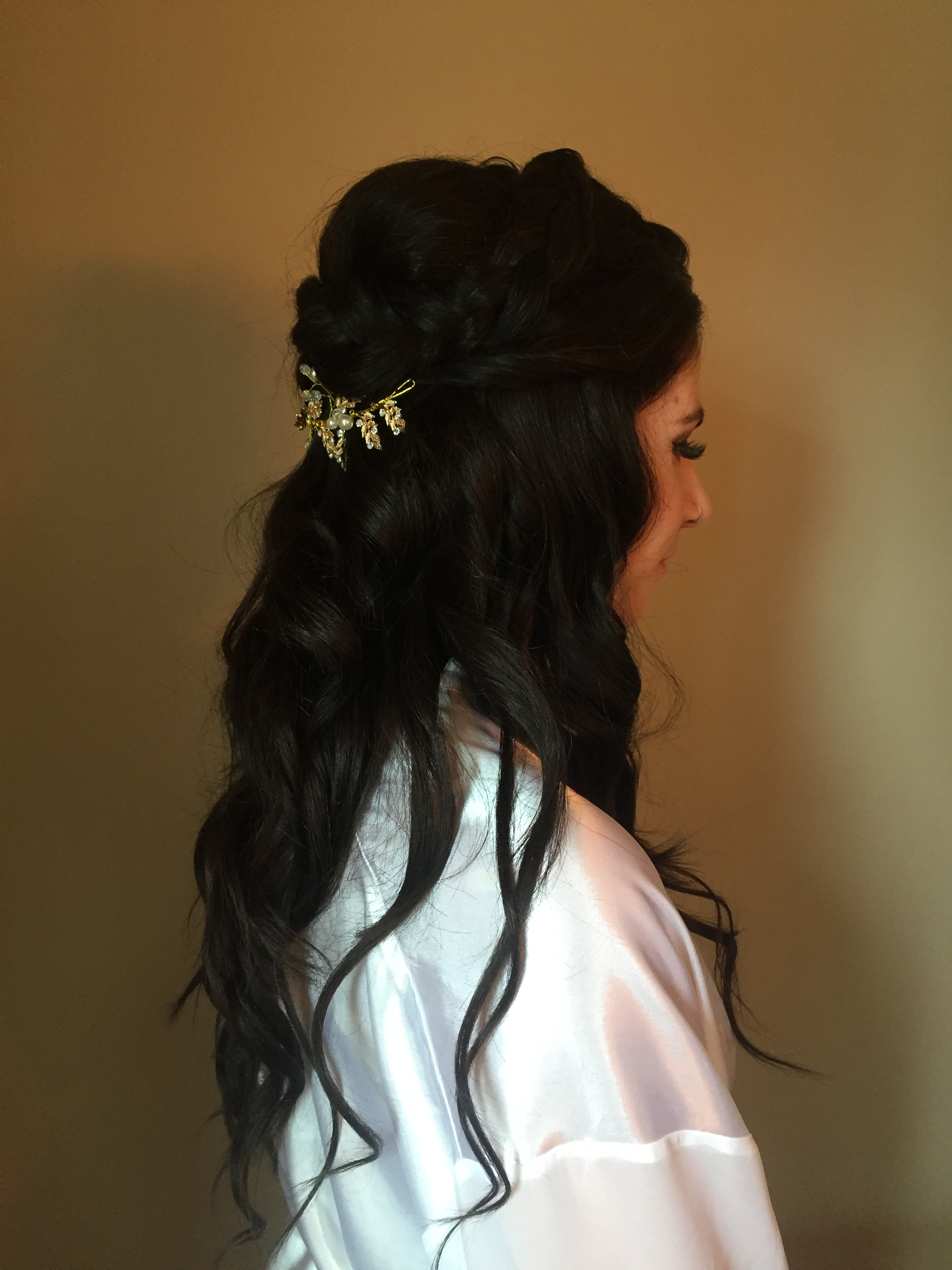 bridal hairstyle by Kara