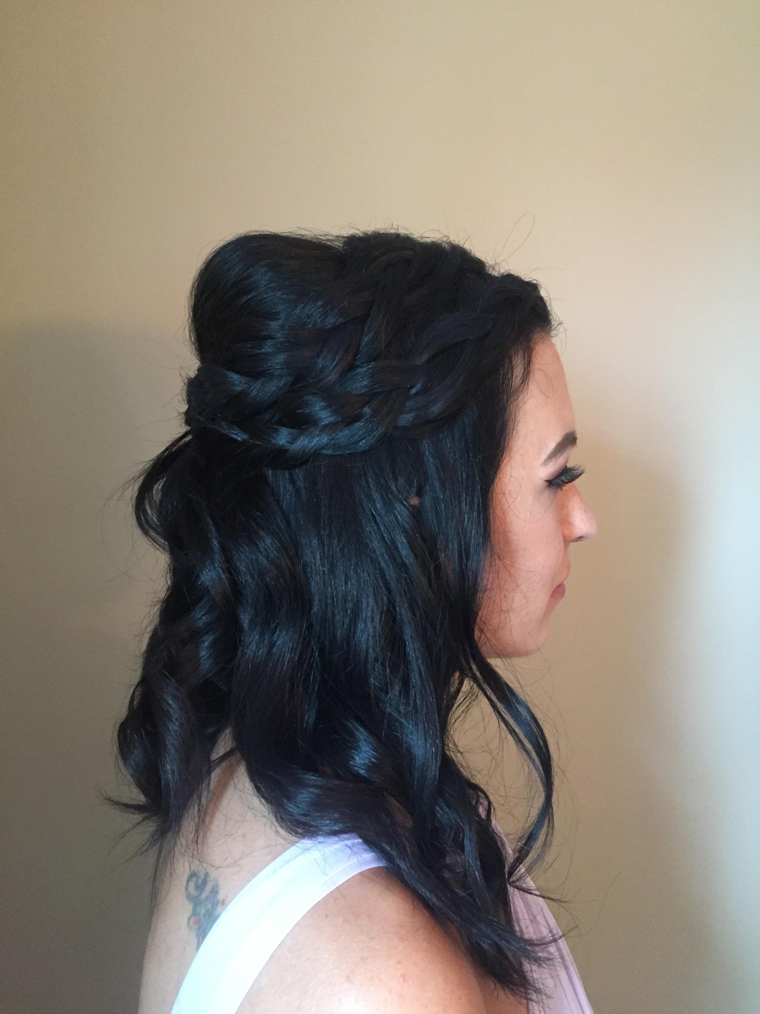 bridesmaid hairstyle by Kara
