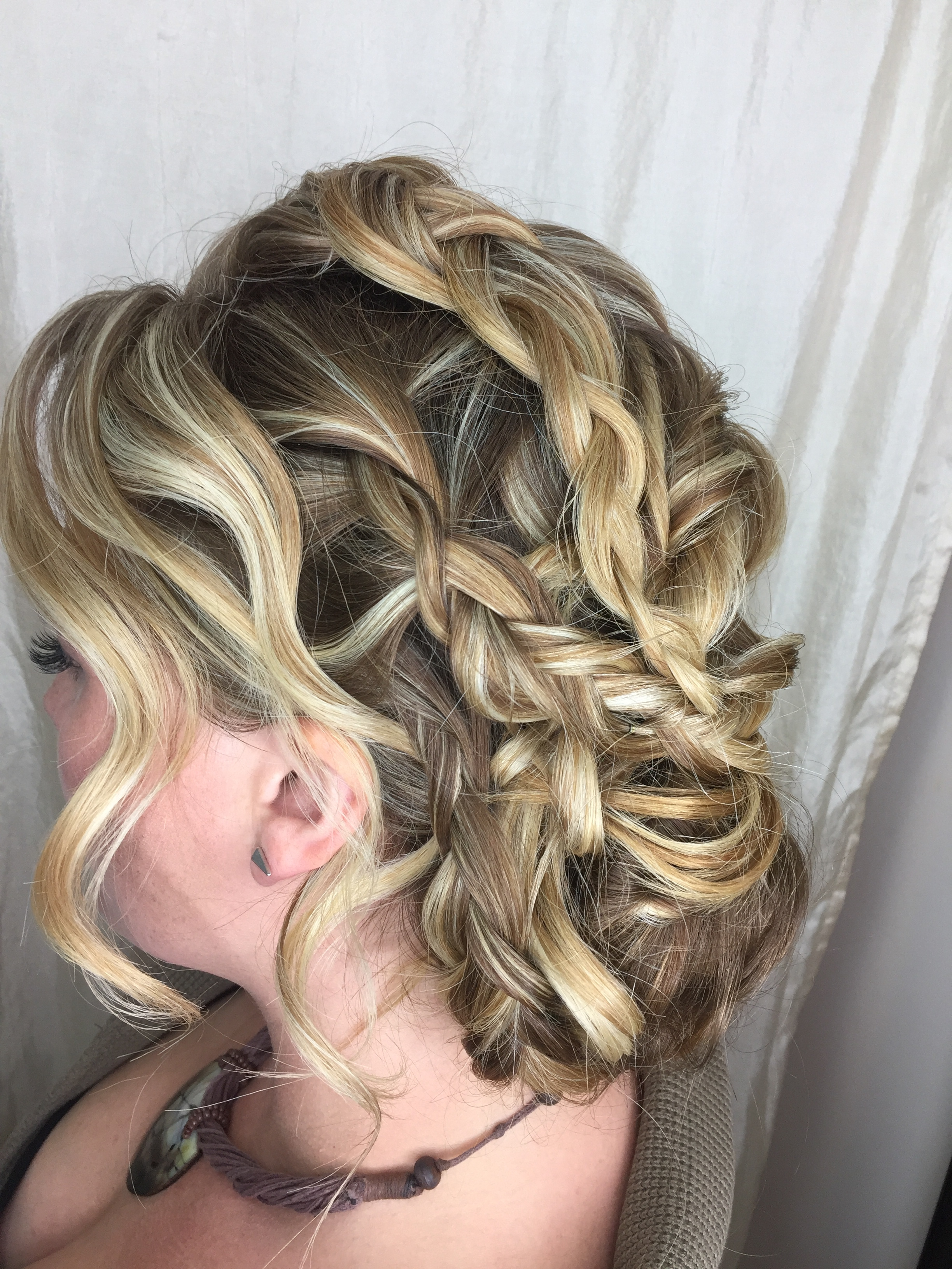 romantic updo by Kara