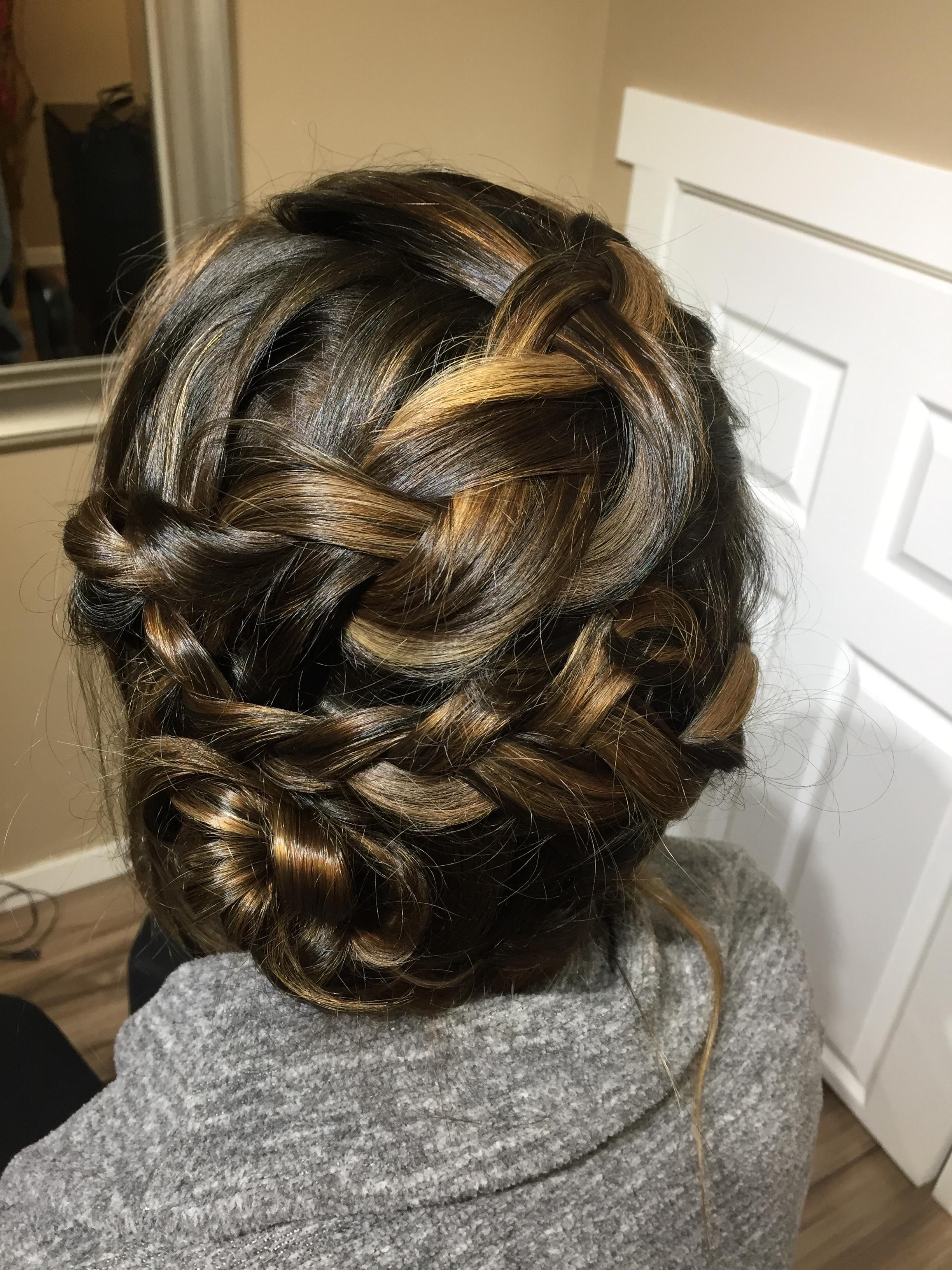 braided updo by Kara
