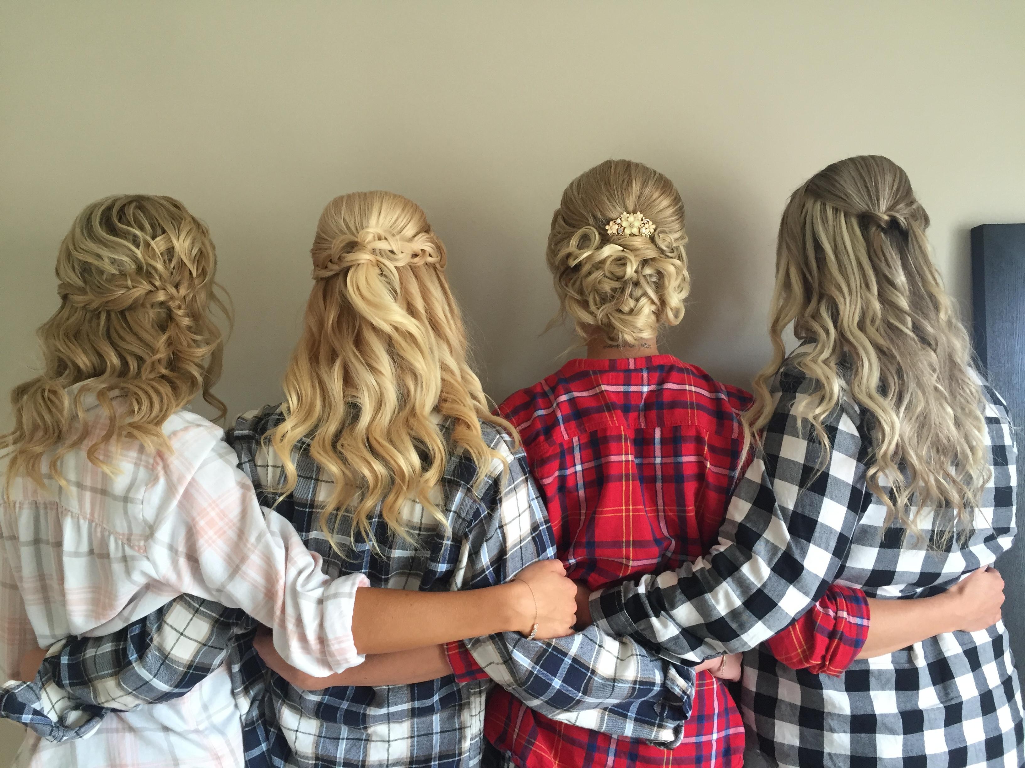 bridal party hair by Kara