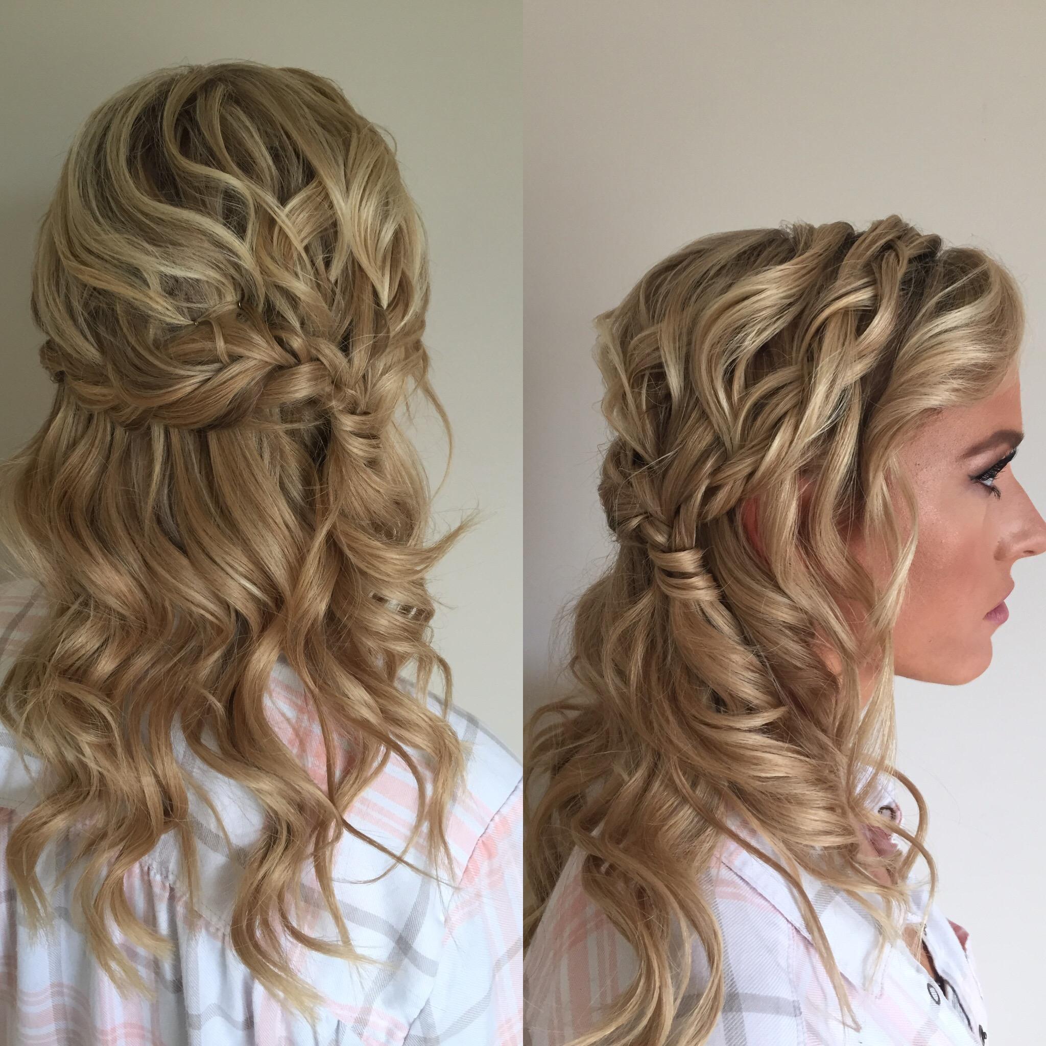bridesmaid's romantic hairstyle by Kara