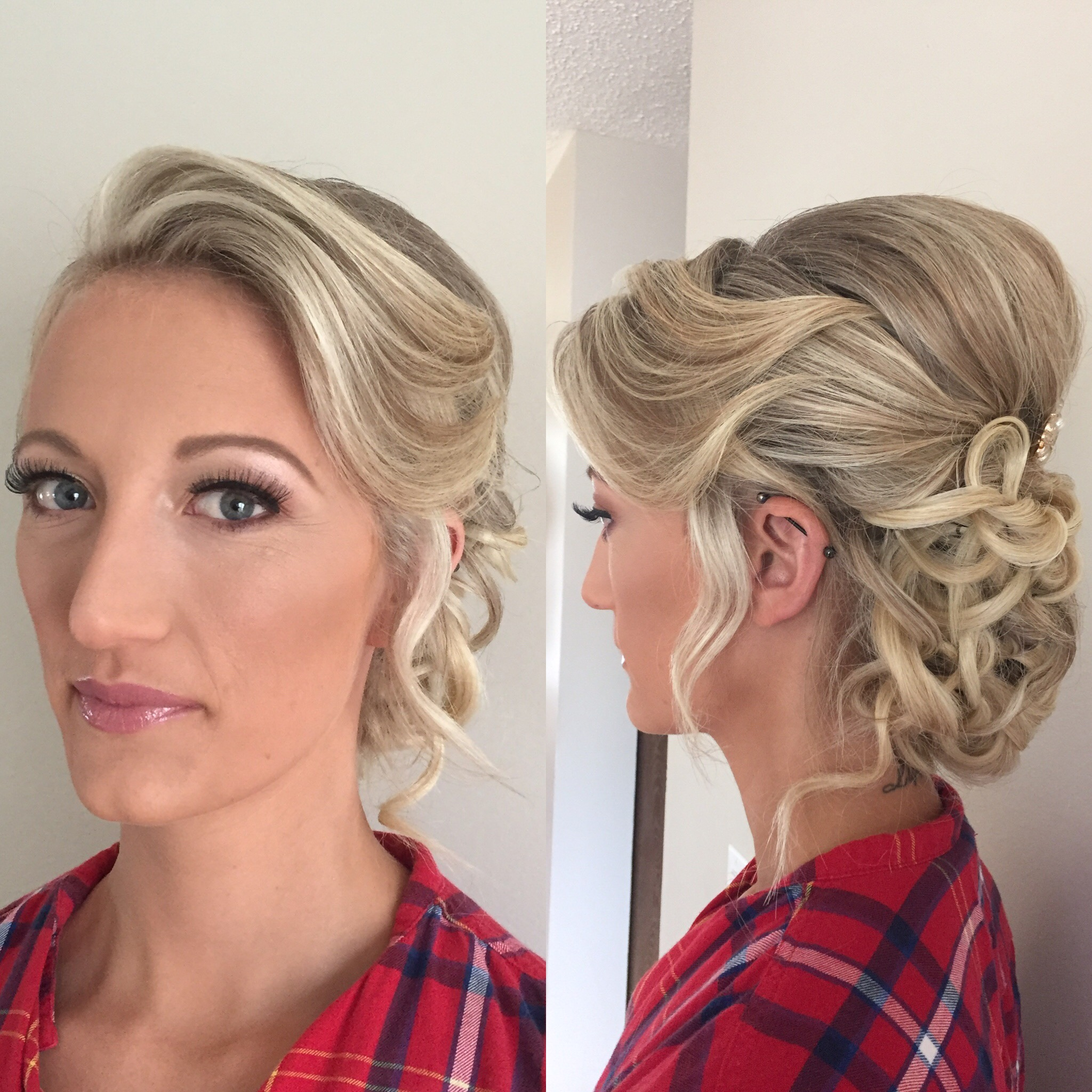 bridal updo by Kara