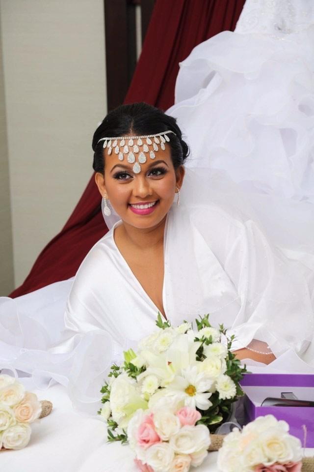 beautiful bride makeup by Monika; hair by Jamie