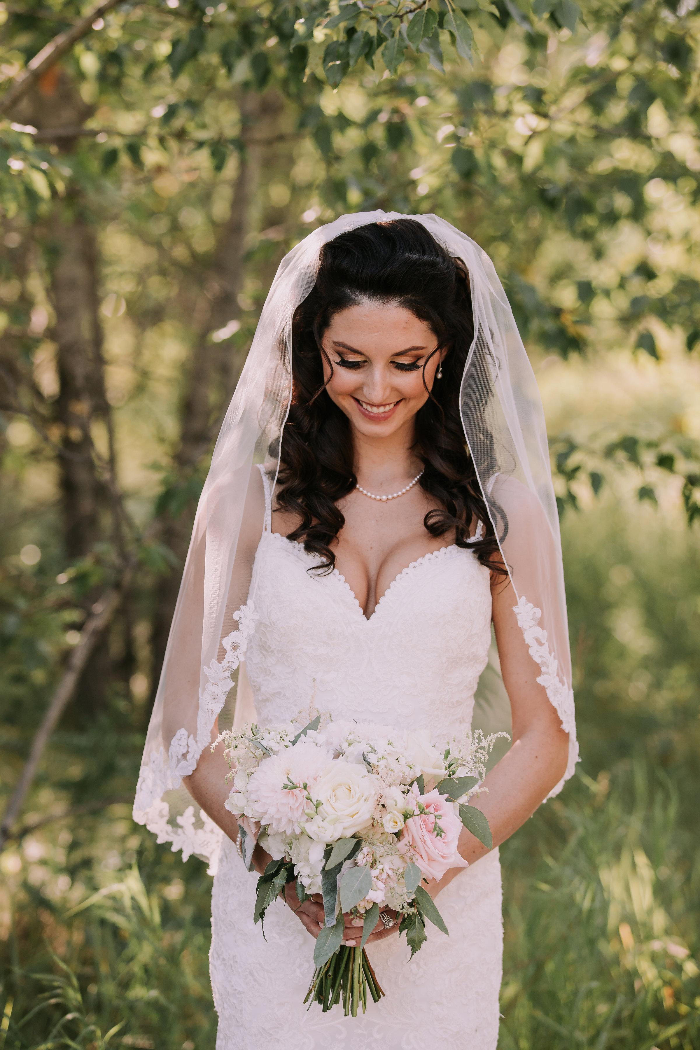 Beautiful Bride Alyssa- hair Jamie, Makeup Monika photo Redbloom photography